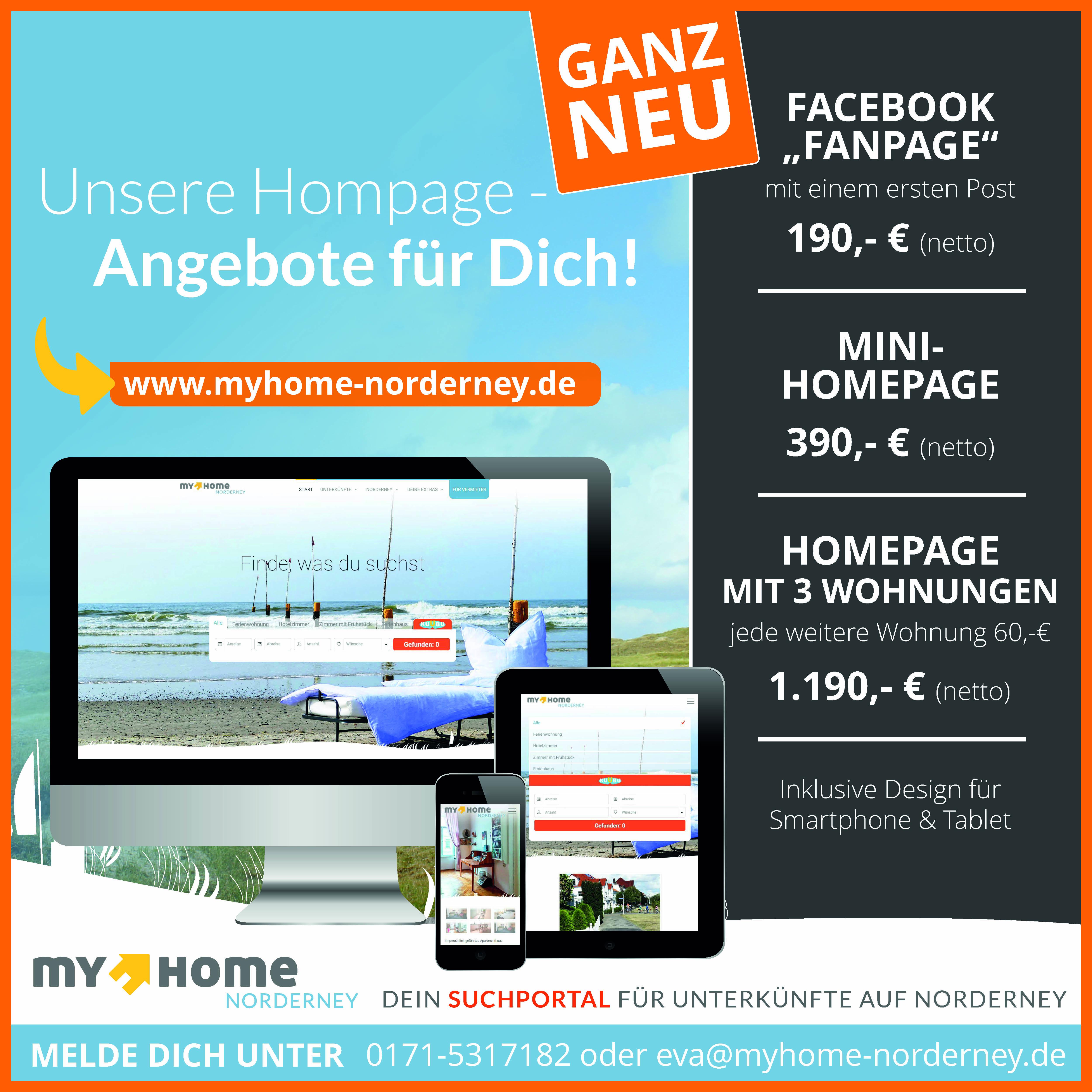 Vermieter-Homepage Angebot