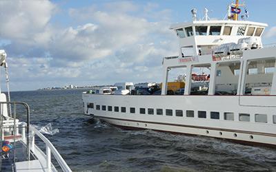 Autofähre nach Norderney - Anfahrt nach Norderney